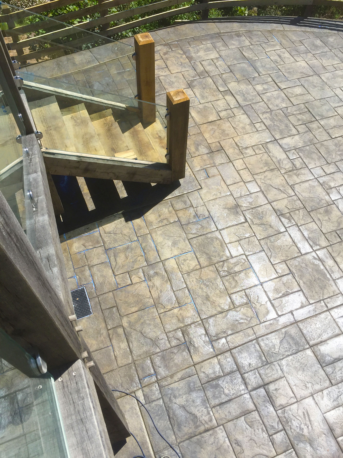 imprinted concrete paved patio