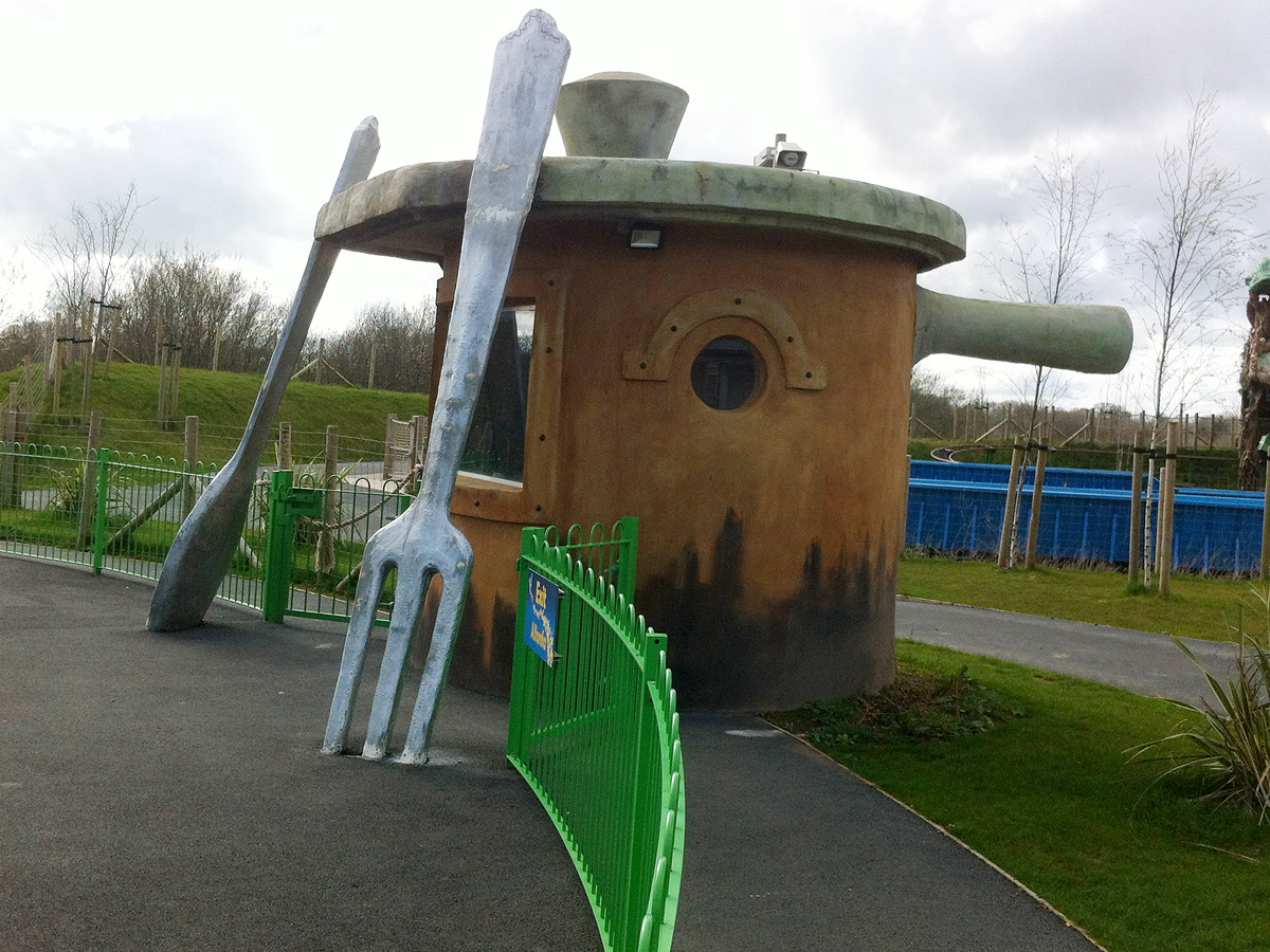 theme park giant spoon and fork